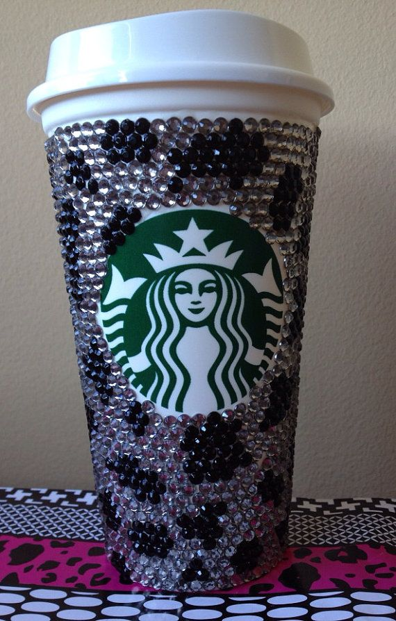 custom starbucks coffee cup on etsy beautiful. Black Bedroom Furniture Sets. Home Design Ideas