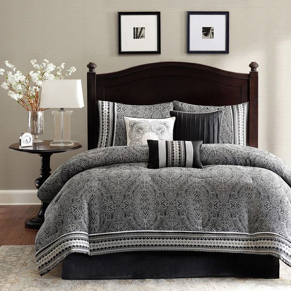 madison park barton 7 piece comforter set  wayfair