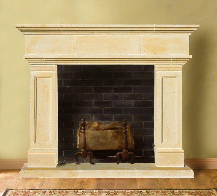 Hampton cast stone fireplace mantels old world