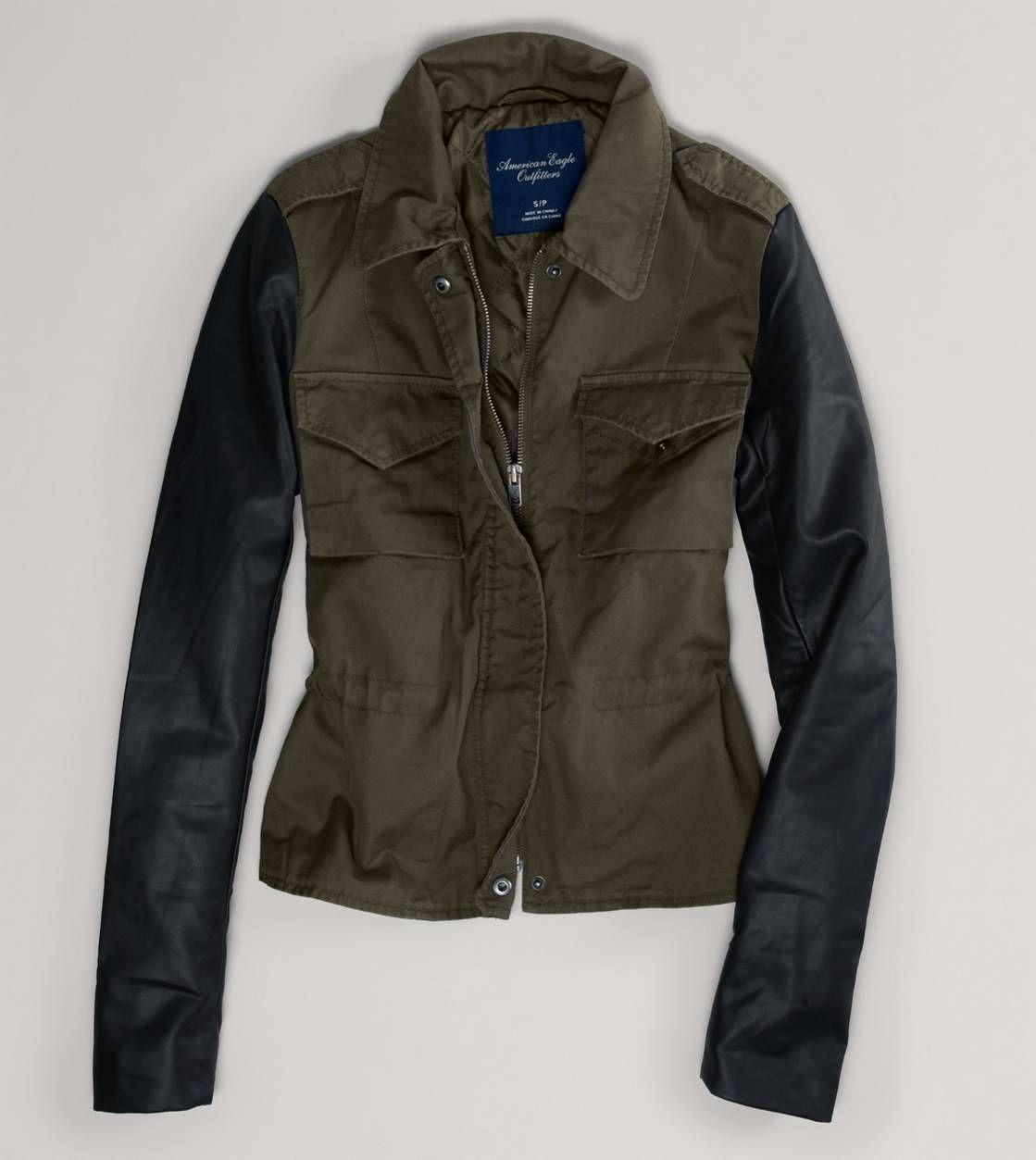 Nwt american eagle womens xs s m l xl military jacket olive faux ... 9b44326762