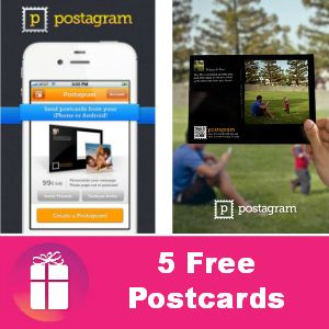 App to send free postcards