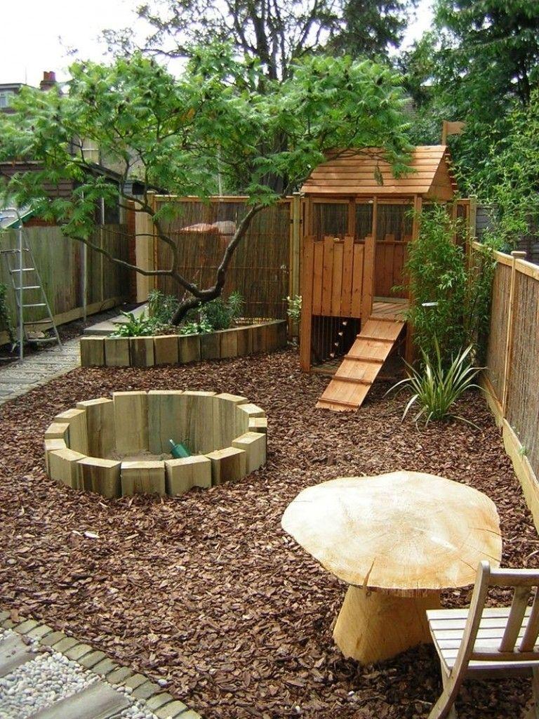 Fun kids garden with no grass  Play area backyard, Backyard kids