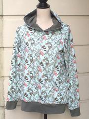 Kapuzen-Shirt mit Vögeln