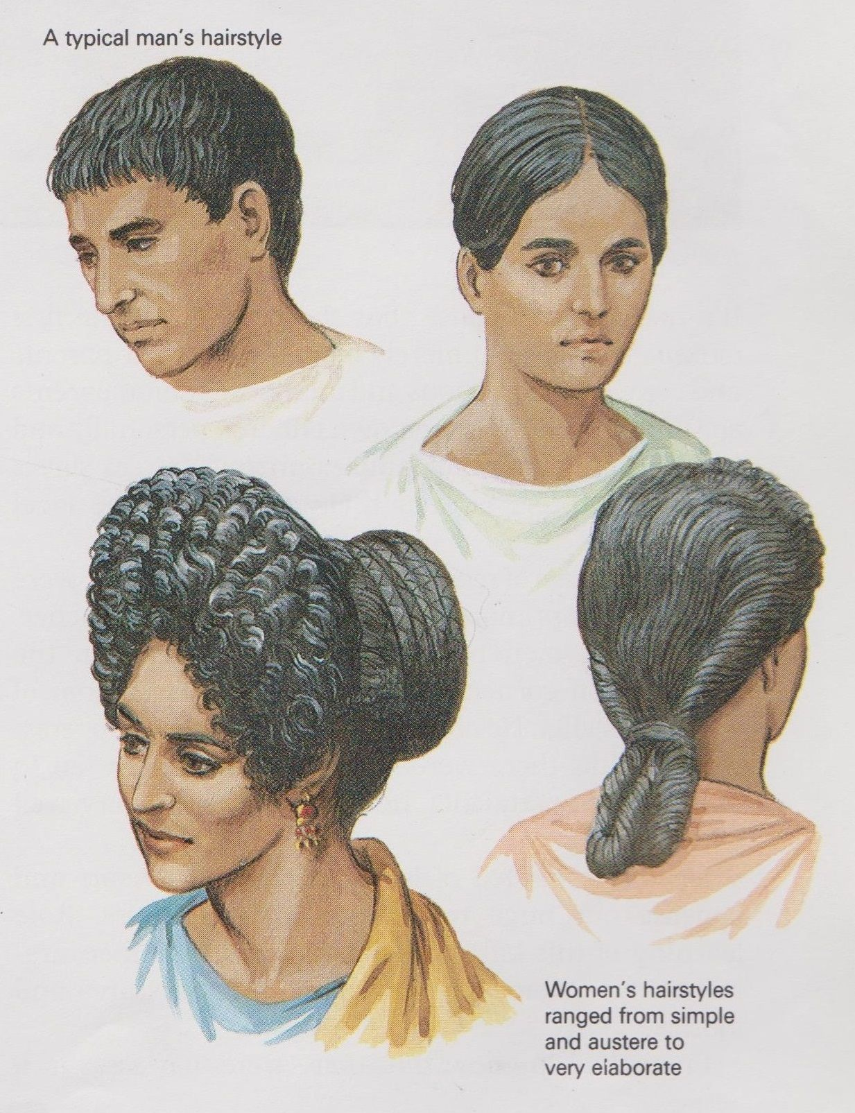 ancient roman hairstyles (peter connolly/user: aethon