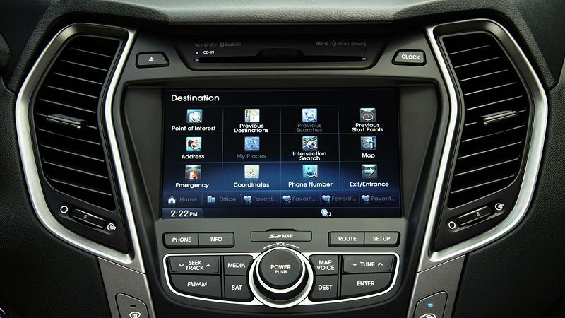 2013 SANTA FE NAVIGATION WITH 8INCH TOUCHSCREEN Hyundai