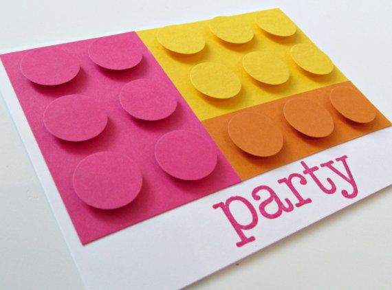 Building Blocks Birthday Party Invitation for Girls | Party ...