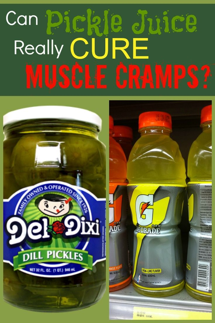 is pickle juice the best way to prevent running cramps? | cures