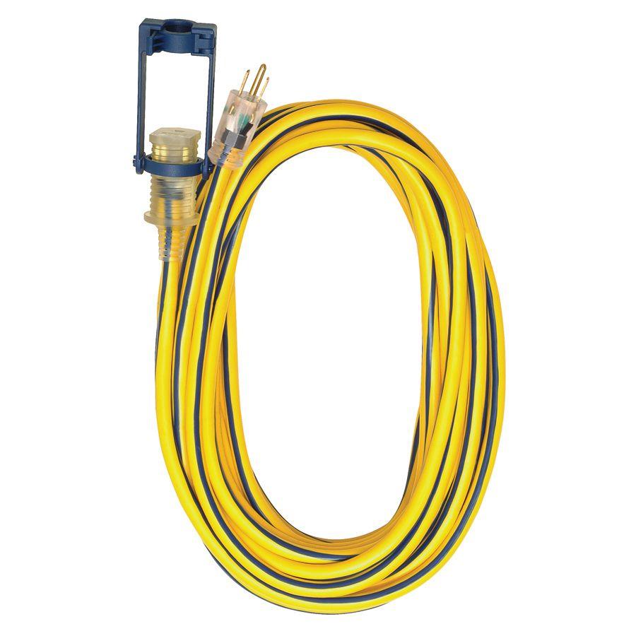 Voltec Industries 50-ft 15-Amp 300-Volt 12-Gauge Yellow Outdoor ...
