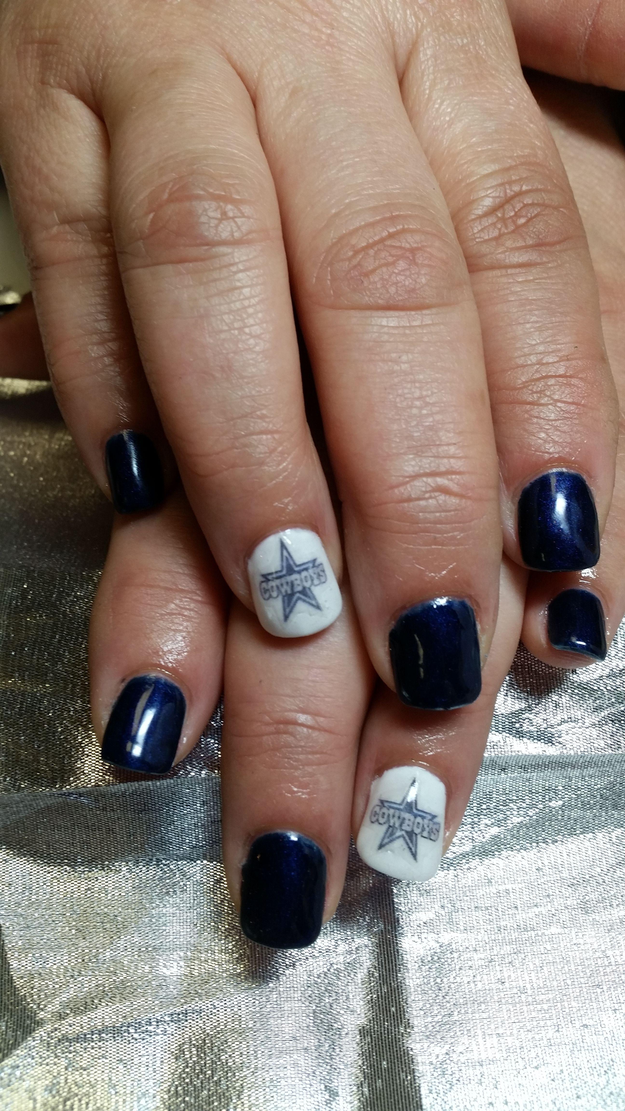 nail art - gel, decal, dallas cowboys | nail art - tea\'s nail art ...