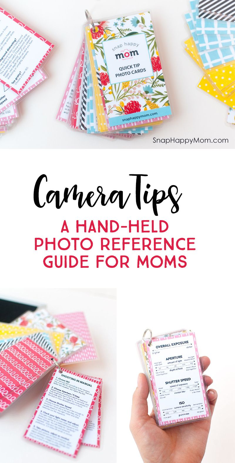 Camera Tips: A hand-held photo reference guide for moms *Love this hand tool. Small enough to keep it in your pocket or camera bag. So helpful for DSLR moms.