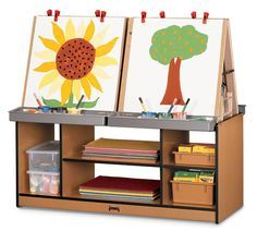 Sproutz® 4 Station Art Center   Free Shipping | Honor Roll Childcare Supply    Daycare