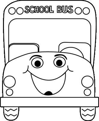 Black And White School Bus Cartoon Clip Art Black And White School Bus Cartoon Vector Image Bus Cartoon Clipart Black And White School Bus
