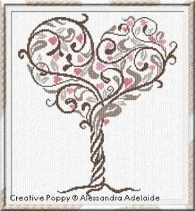 Alessandra Adelaide Needlework - Tree of Love (cross stitch pattern)