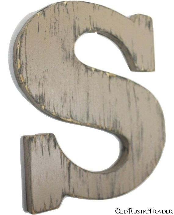 Wooden Intial S Rustic Wood Letter 12 Inch By Oldrustictrader With Images Letter Wall Decor Hanging Letters On Wall