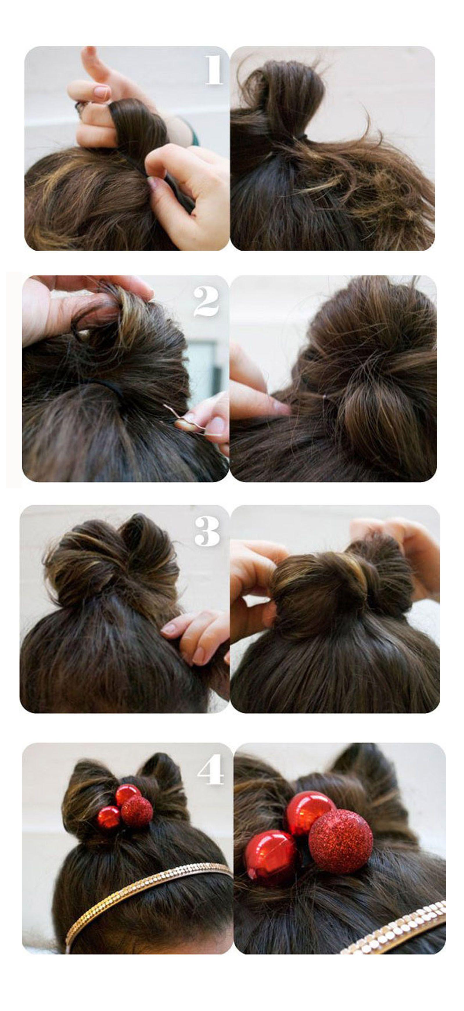 Cute bow easy for both long and short hair hair pinterest