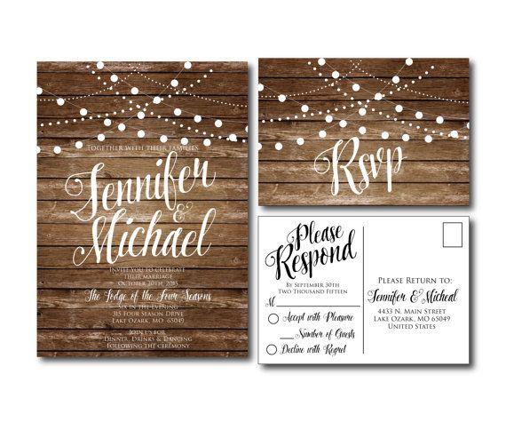 Rustikale Hochzeit Einladung Country Chic Herbst Von ClearyLane