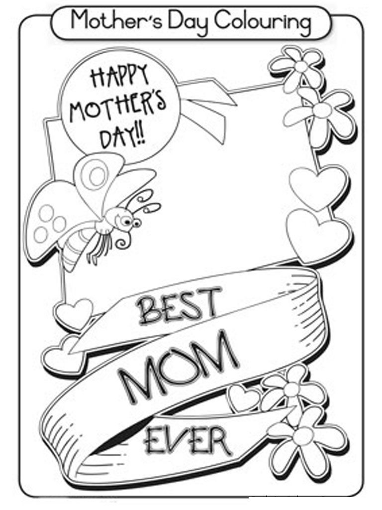 Mothers{*} Day Coloring Pages For Children, Kids, Toddlers ...