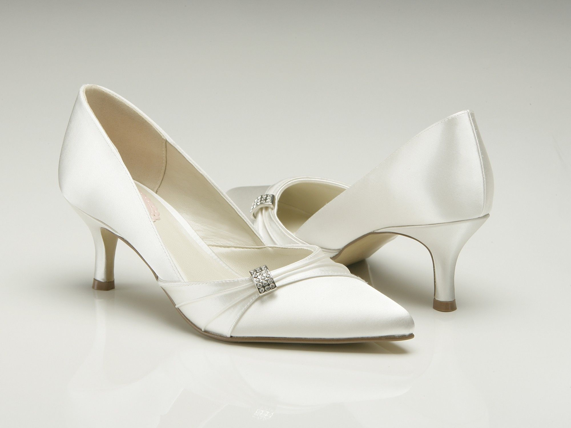 low heel wedding shoes with jewel