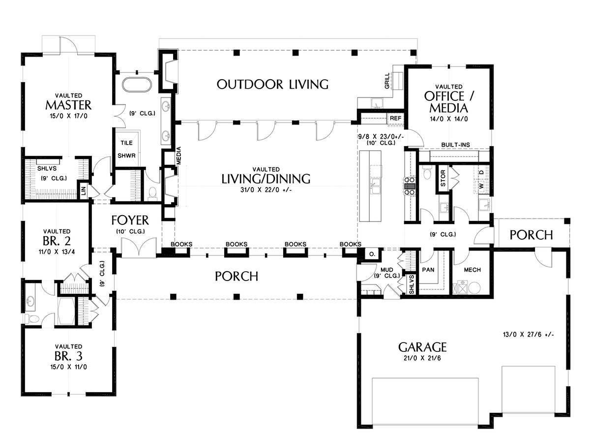 Fabulous Farmhouse Style House Plan 5505 Somerset Ranch Style House Plans Farmhouse Style House Plans Contemporary House Plans