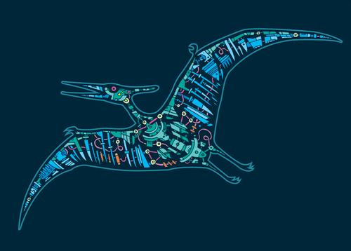 Mechanical Dinosaur Illustration