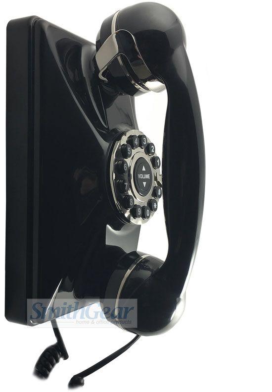 1930 Retro Replica Wall Phone BLACK #wallphone