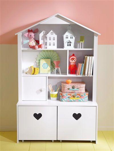 Schöner Wohnen Babyzimmer kinderregal mit hausform weiß 80x 130x34 unterbautiefe 19aufbau