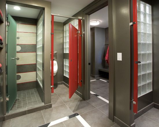 Gym Bathroom Designs Sport Court Locker Room  Eclectic  Home Gym  Minneapolis  John