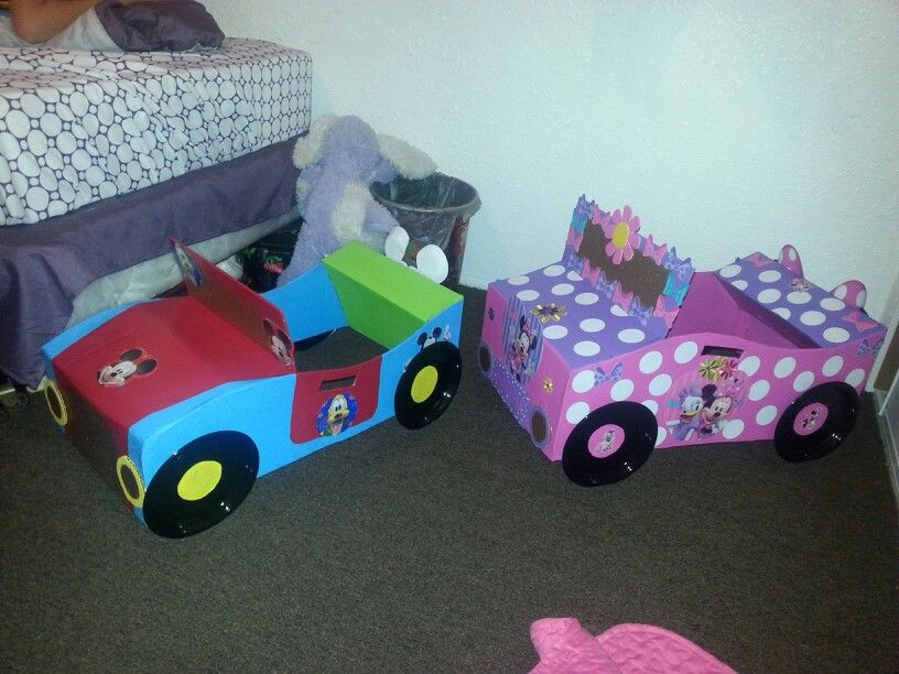 Cardboard Box Cars I Did For My Kids Love It !