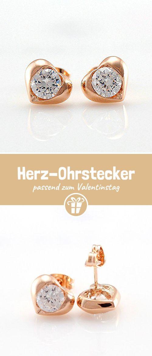 Yoursfs Edel Aushöhlende Herz Ohrstecker Für Frauen U0026 18K Rosegold  überzogene CZ Schmuck Valentinstag Geschenke