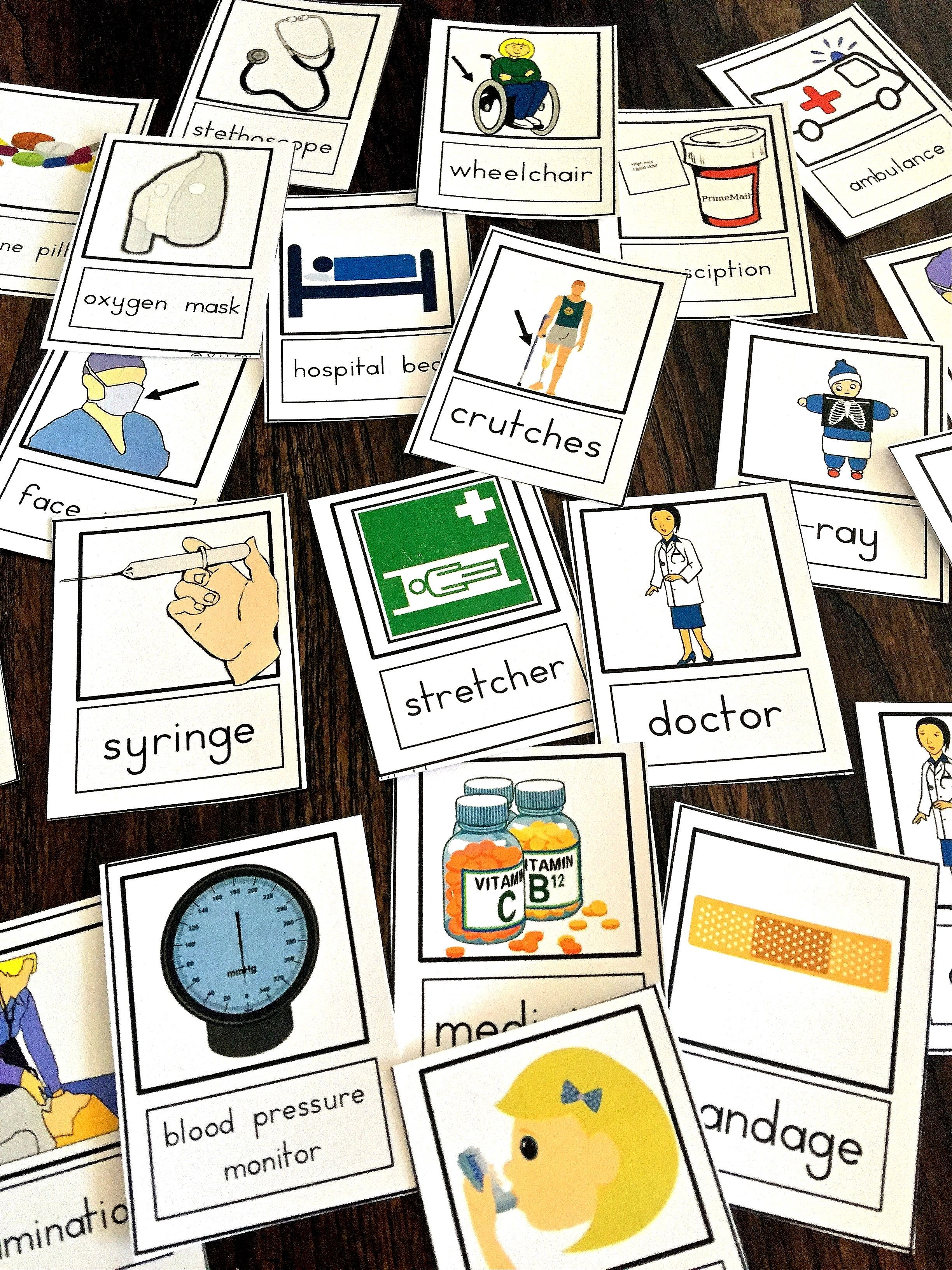 Help Your Esl Students Learn The Hospital And Medical Terminology This Set Of Flashcards Are Illustrations Of The Most Medical Terms Flashcards Visual Learning