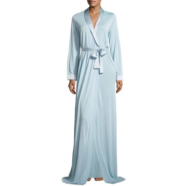 la perla airy blooms long robe ($350) ❤ liked on polyvore