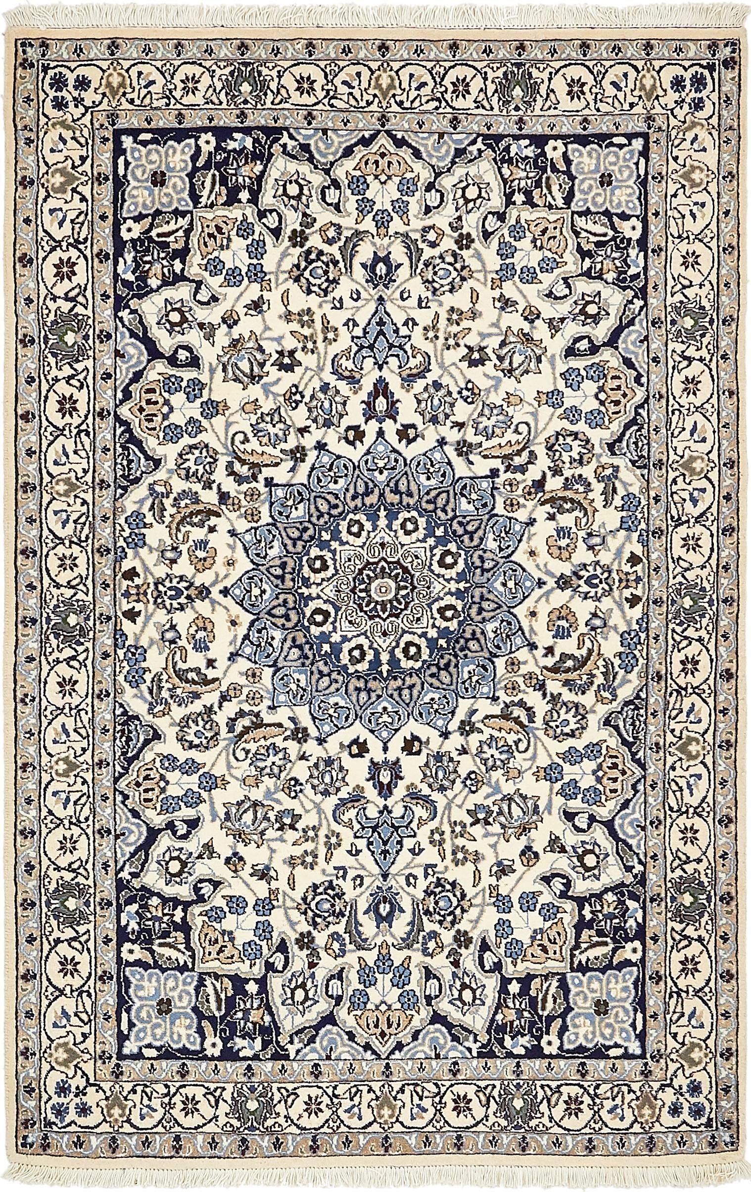 Cream 4 X 6 5 Nain Persian Rug Persian Rugs Rugs Ca