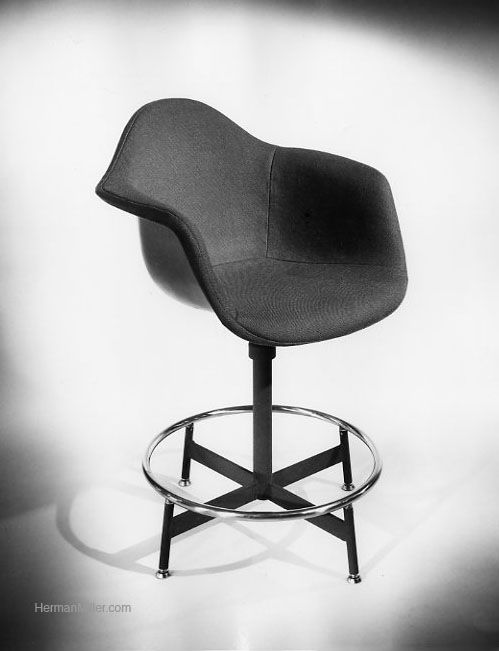 An Eames drafting chair 1st iteration. This variety was made between 1954 and 1969. & An Eames drafting chair 1st iteration. This variety was made ...