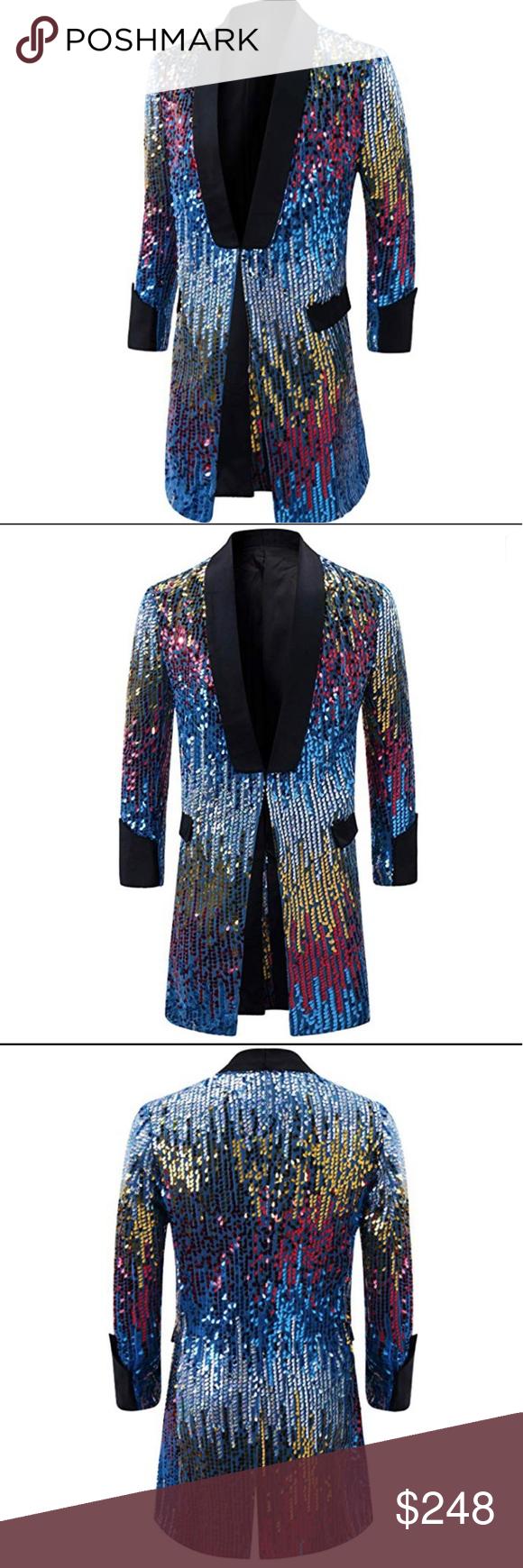 125d5650 Elton John Style Sequined Jacket? Life is a party Dress like it! Men's  Tuxedo Single-Breasted Party Show Suit Sequins Punk Jacket Blazer 20%  Cotton + 80% ...