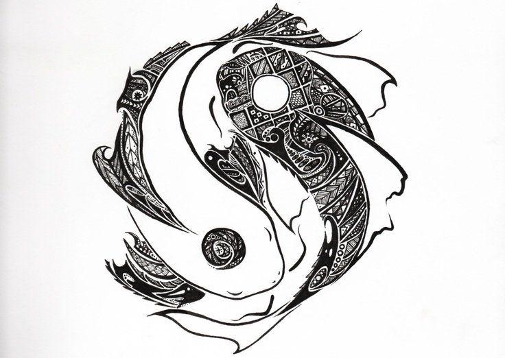 38++ Best Yin yang koi fish tattoo small image HD