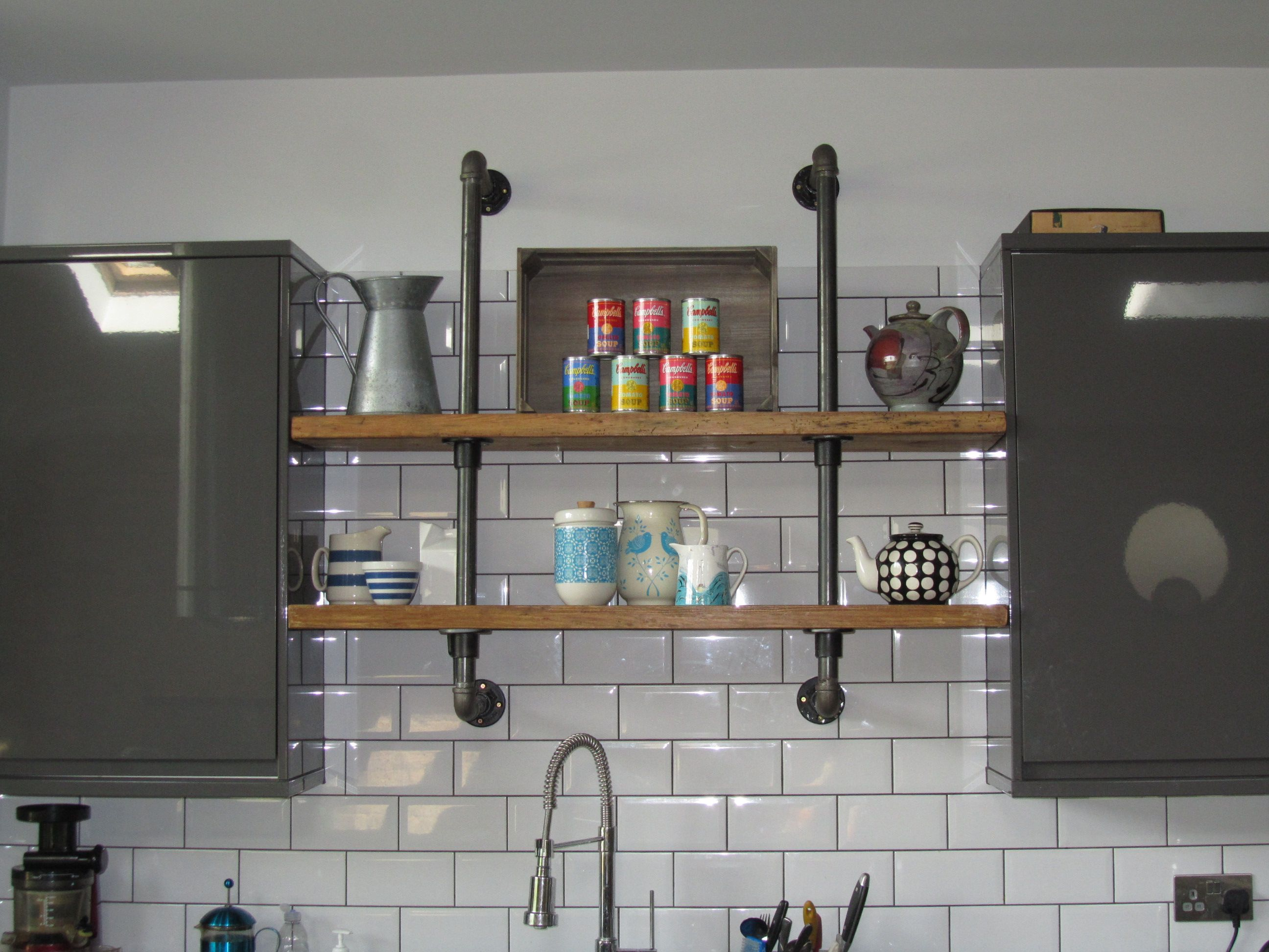 Gas Pipe Shelves