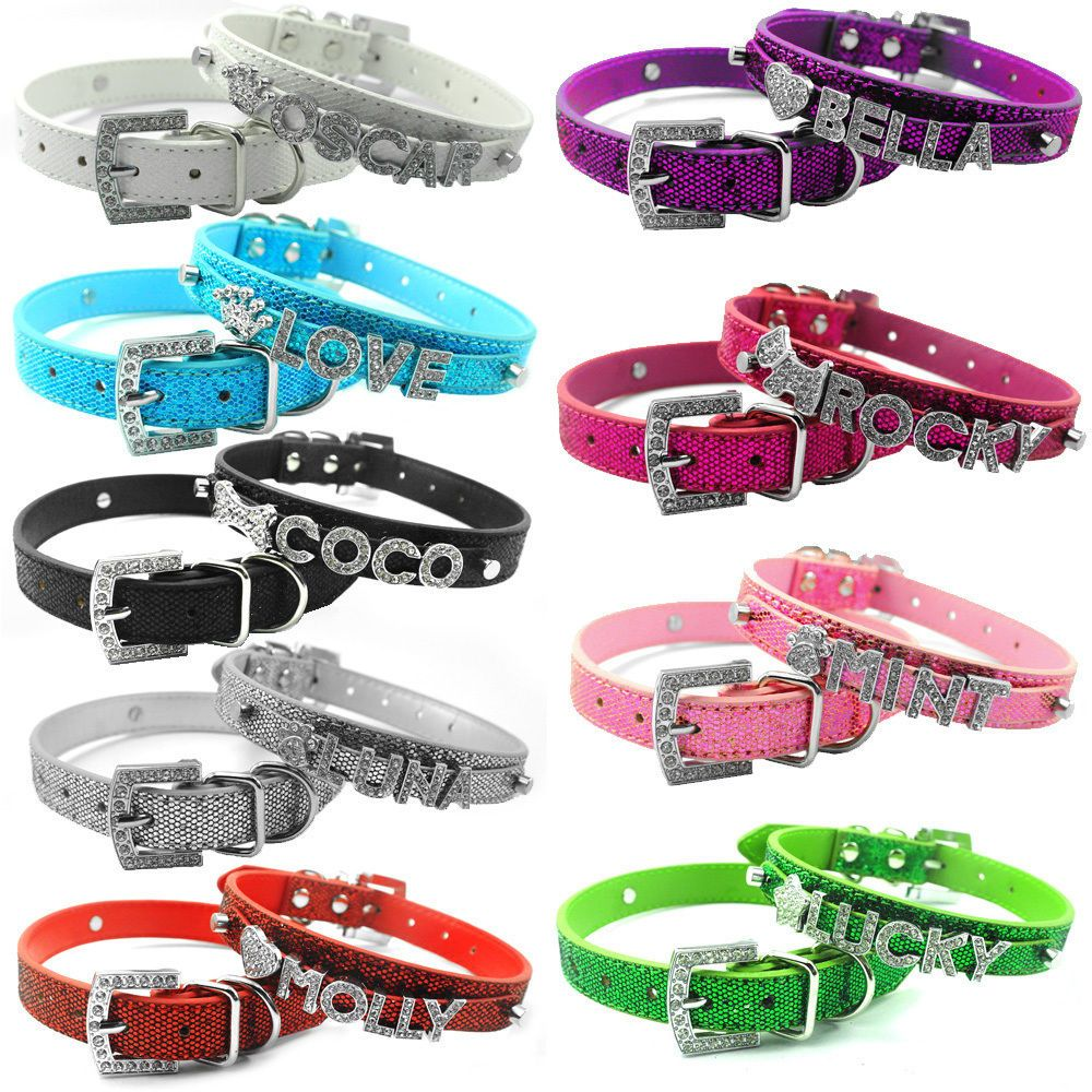 Details about DIY Personalised Leather Collar Pet Dog Cat