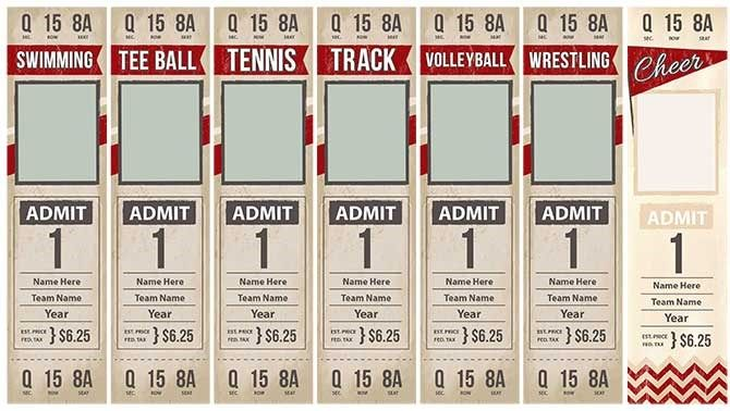 Game Day Tickets Template Options Con Sue Photography \ Design - ball ticket template