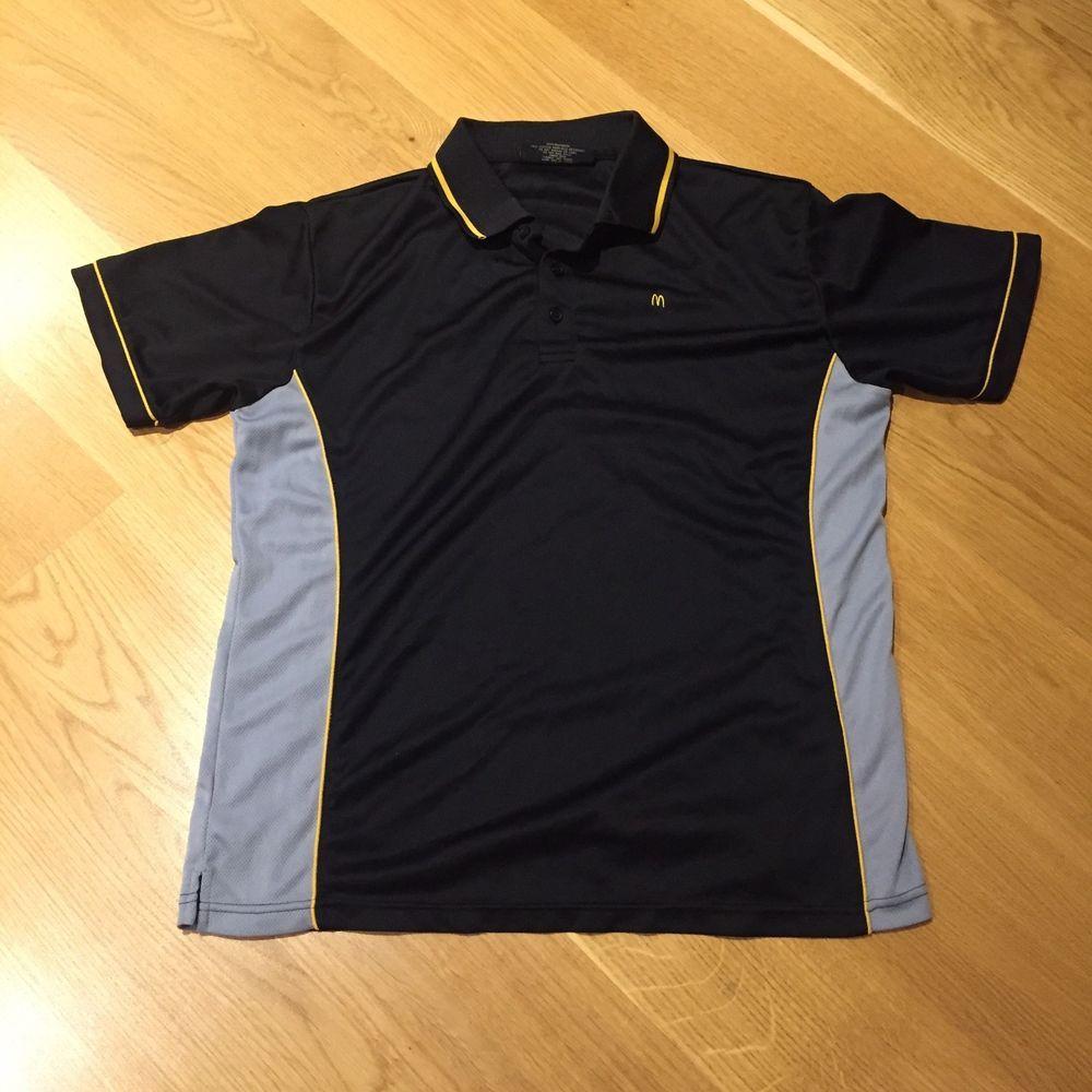 da7f84976 Mcdonald s Brand Staff Uniform Grey   Black Polo Shirt Unisex Large Size 18