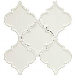 Backsplash Tile Accent Byzantine Arabesque Bianco By The