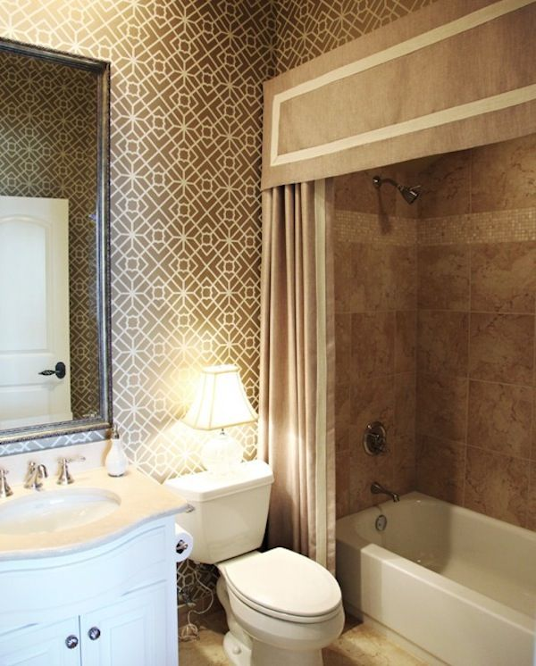 making your bathroom look larger with shower curtain ideas - Shower Curtain Design Ideas