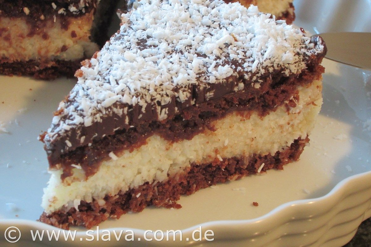 All in one schoko kokos torte mit einem ganache guss for Kuchen dietz fritzlar