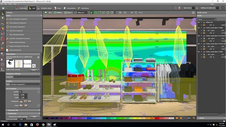 retail shop lighting design using