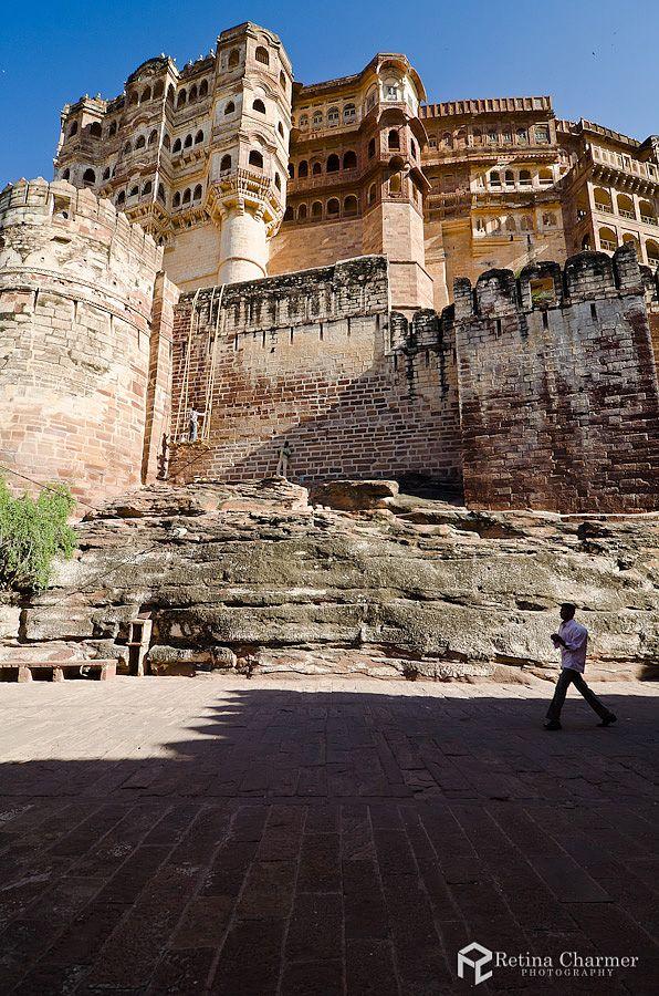 The Majestic Facade Of Mehrangarh Fort, Jodhpur