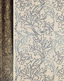 William Morris Co: Acanthus Scroll upholstery fabric via London Fabric Co