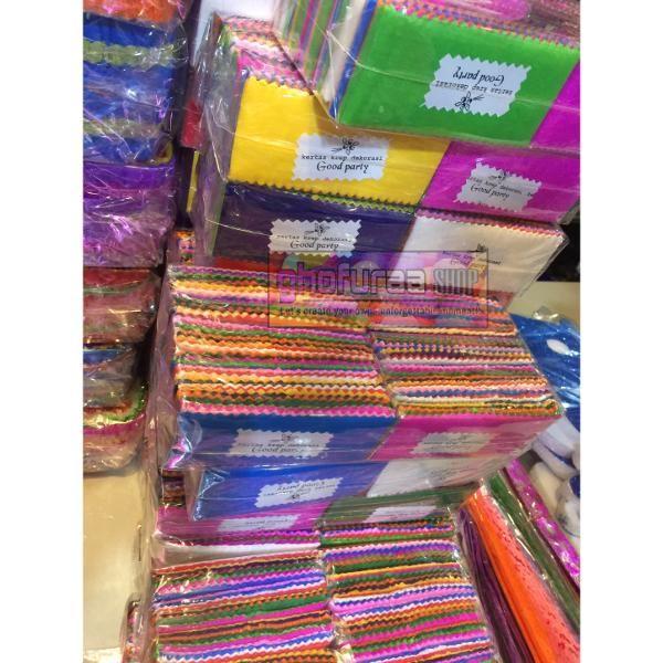 Jual Beli kertas krep dekorasi 1 pak isi 10 pcs potong warna warni atau  kertas tissue 58189d145a