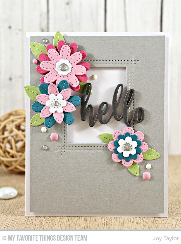 mft sensational stitched flowers card kit release