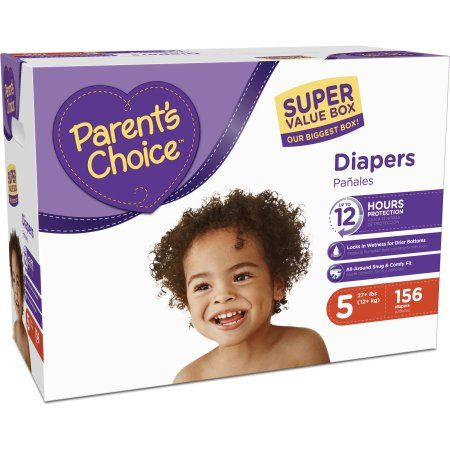 2 Pack Parent S Choice Diapers Size 5 108 Diapers Walmart Com Parents Choice Diapers Parents Choice Absorbent Diapers