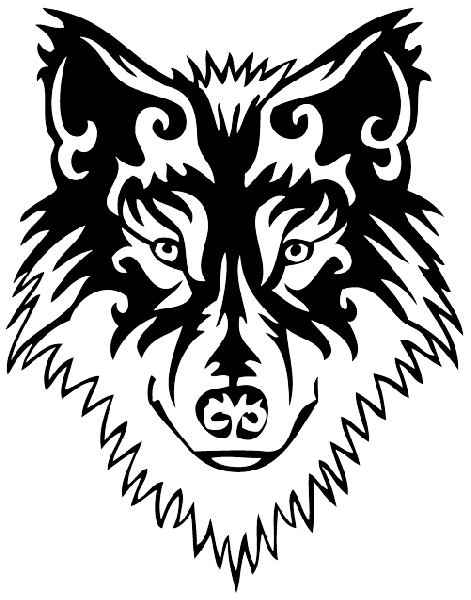 Tribal Wolf Tattoos Designs 03 Png 471 600 Native American Wolf Wolf Tattoos Wolf Tattoo Design