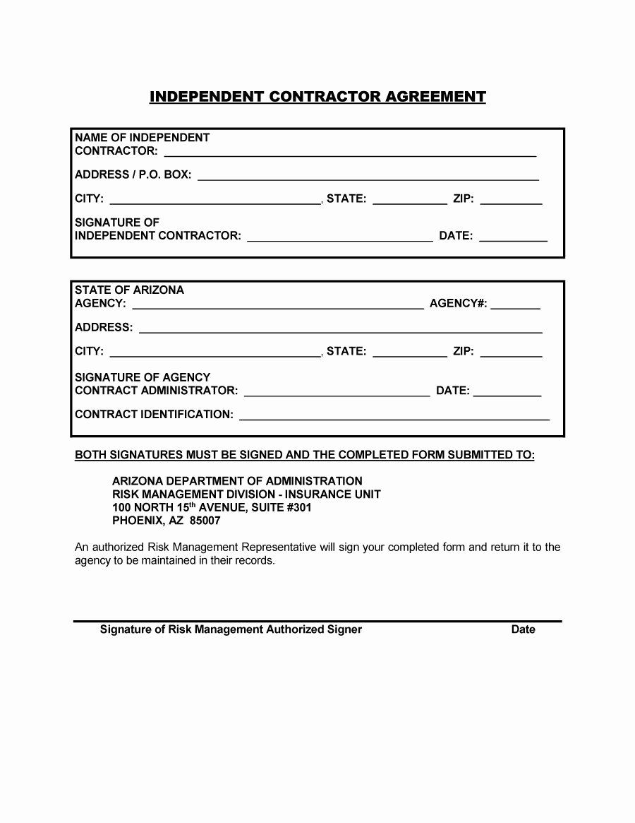 Free Construction Contract Template Luxury 50 Free Independent